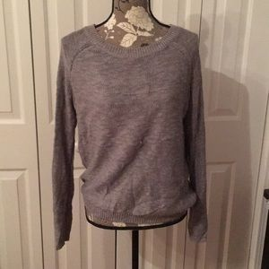 Sweater with open back